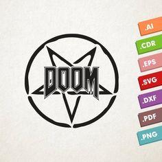 DOOM logo - SVG Vector file. Game Doom. Instant download for cricut or silhouette. DOOM. Doom game logo.