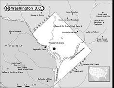 mapsontheweb:  A map of the etymologies of the Washington, DC...