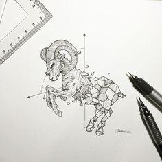 Geometric Beasts   Ram by kerbyrosanes