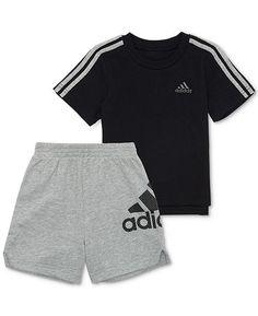 PUMA Little Girls 2 Piece Tee /& Mesh Shorts Set