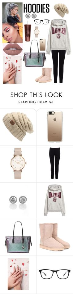 """#cityonfire"" by tiffany-sonrisa-juarez ❤ liked on Polyvore featuring Casetify, ROSEFIELD, Warehouse, Michael Kors, UGG, SONRISA, Static Nails, Joseph Marc and Hoodies"