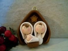 Nativity Christmas Ornament by countrycupboardclay on Etsy, $14.95