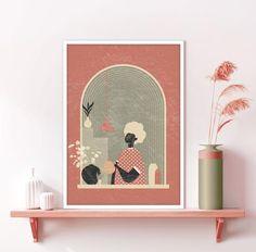 Printing Services, Online Printing, Orange Wall Art, Window View, Plant Art, International Paper Sizes, Terracotta Pots, Minimalist Art, Nursery Wall Art