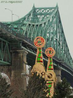 Pont Jacques-Cartier, Montréal (Québec) - Jacques-Cartier bridge, Montreal (Quebec)