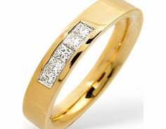 Ampalian Jewellery 18 Carat Gold Diamond Ring (179) A lustrous 18 carat gold ring channel set with a quarter of a carat of fine quality H/Si princess http://www.comparestoreprices.co.uk/gold-jewellery/ampalian-jewellery-18-carat-gold-diamond-ring-179-.asp