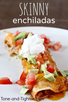 Slow Cooker Skinny Chicken Enchiladas on MyRecipeMagic.com
