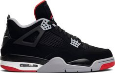For Sale: Nike Air Jordan Retro 4 Bred OG ed. Style: 308497 Due to rules set by Nike we are not allowed to release orders until the official release date. Retro Sneakers, Air Max Sneakers, Sneakers Nike, Nike Air Jordans, Nike Air Jordan Retro, Nike Air Max, Tenis Basketball, Jordan Basketball, Fashion Shoes