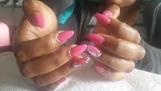 Pink stillettos Ndumi's house of beauty 061 844 1942