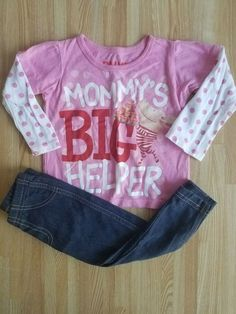 6d9640ba1 12 Month Girl Olivia Mommy's Big Helper and Carter Mixed Outfit EUC  #fashion #clothing
