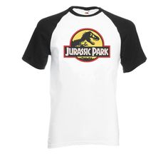New Vintage Style Jurassic Park Baseball T shirt by GameOfTees