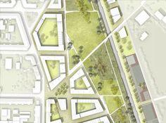 architecture site plan close up _ Stadtraum Bayerischer Bahnhof Architecture Site Plan, Architecture Drawings, Landscape Architecture, Landscape Plans, Urban Landscape, Landscape Design, Vista Landscape, Garden Design, Site Plan Rendering