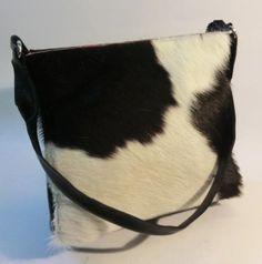 Cow Hair Bag#Tote#Tasche#Damentasche# KUHIE, Kuhfelltasche Pooh in schwarz-weiß von Gmischtesach:  Die Tasche mit der Kuh !! auf DaWanda.com