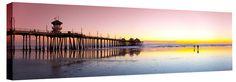 Huntington Beach Pier Mauve/Yellow - http://www.greatbigphotos.com/product/piers/huntington-beach-pier-mauve-or-yellow-canvas-prints/ - california, canvas art, Canvas Photos, Canvas Pictures, Canvas Prints, channel islands, coastal art, Gallery Wrapped Canvas Prints, golden sunset, Great Big Photos, horizon, huntington beach pier, mauve, panorama, panoramic canvas, Sean Davey, seascape, strength, strong, sunset, yellow - #California, #CanvasArt, #CanvasPhotos, #CanvasPictures