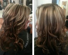 Love the color. Caramel/sand blond highlights and lowlights.