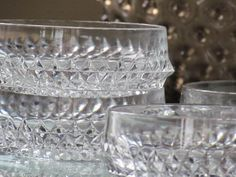 Cut glass bowls