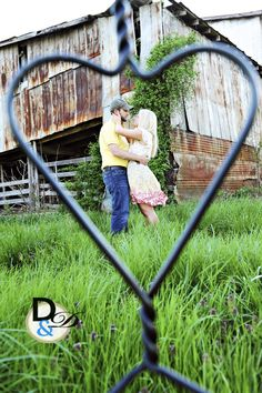 Country Couple Photo: Heart