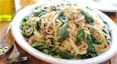 Linguine with Sardines and Spinach | Taste for Adventure - Unusual, Unique & Downright Awesome Recipes
