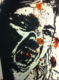 Self Portrait, lino print