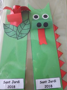 Activities For Kids, Crafts For Kids, Arts And Crafts, Origami, Saint George, Dragon Art, Sloth, Bookmarks, Saints