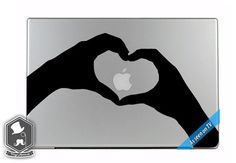 MacBook TV Commercial Heart Hands Love Art Vinyl by VinylAptitude, $5.49