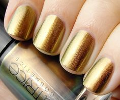 Stunning shiny gold nail polish