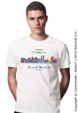 New York Skyline T-Shirt in Kekeye Dots Design, Gents, of course also for Ladies available ;)