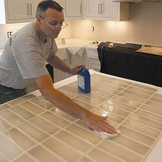 Preparing for a tile backsplash - Seal tiles before installation to make it easier to clean off any errant blobs of thinset, and to make grouting easier. To learn more pro tips on how to tile a backsplash, read Tim Keefe's full articleHow to Install a Tile Kitchen Backsplash Read more: http://www.finehomebuilding.com/slideshow/preparing-for-a-tile-backsplash.aspx#ixzz3KkmpJRcu Follow us: @fhbweb on Twitter | FineHomebuildingMagazine on Facebook