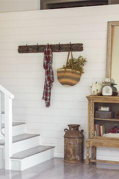 Living Room Updates: A DIY reclaimed wood coat rack