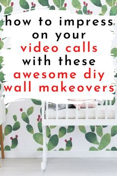 Make over your plain white walls or you give your home office or bedroom an update with these beautiful, easy creative updates. Check out these budget friendly accent wall paint ideas. Teal Walls, White Walls, Shabby Chic Painting, Stencil Painting On Walls, Home Design Diy, Triangle Wall, Tin Tiles, Statement Wall, Diy Wall