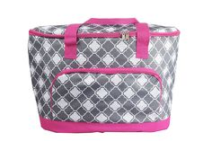 C30 Large Quatrefoil Pattern Capacity Soft Cooler Tote Insulated >>> Don't get left behind, see this great outdoor item : Camping equipment