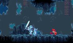 Resultado de imagem para pixel art platformer kickstarter mushroom