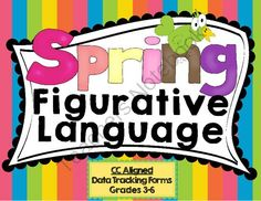 Spring Figurative Language - This is a new spring themed product focusing on many areas of figurative language.  It comes with data charting forms to easily mark progress. .  A GIVEAWAY promotion for Spring Figurative Language from SLPrunner on TeachersNotebook.com (ends on 4-23-2014)