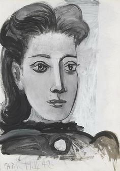 1942 PORTRAIT OF DORA MAAR (Theodora Markovich), Pablo Picasso (Spain 1881~1973…