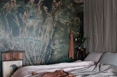 This modern and popular wall decor collection is available at Photowall. Visit us for inspiration from Martin Bergström - Flora Hysterica. Floor Ceiling, Green Nature, New Wallpaper, Blue Tones, Home Bedroom, Bedroom Inspo, Site Design, Chicano, Christmas Home