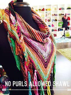 Ravelry: No Purls Allowed Shawl pattern by Benjamin Matthews