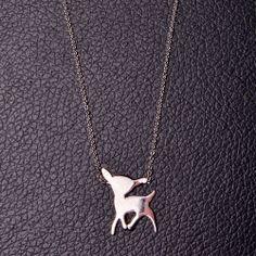 Collier Bambi En Argent 925 http://www.monbijoudamour.com