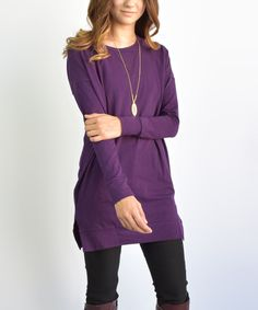Another great find on #zulily! Eggplant Tunic by éloges #zulilyfinds
