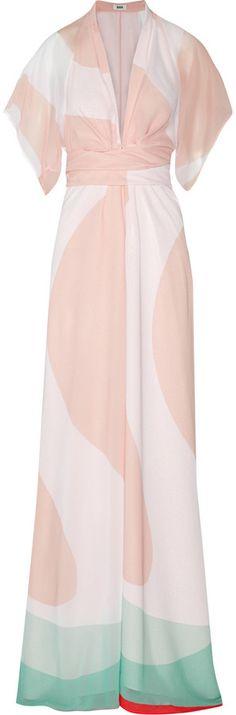 ShopStyle Collective,   Issa Pollyanna printed chiffon maxi dress