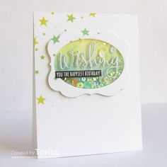 LOVE this card by Yoshie using Simon Says Stamp Exclusives.