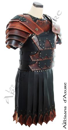 Roman Fantasy Leather Armor by ArtisansdAzure on Etsy