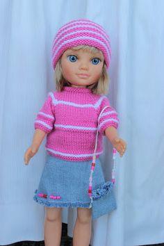 Si quieres un modelo exclusivo para tu nancy, aquí tienes muchos modelos donde elegir, modelos únicos, para que puedas vestir a tu muñeca de... Nancy Doll, Knit Crochet, Crochet Hats, Baby Born, Doll Accessories, Couture, Lana, Winter Hats, Pullover