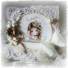 Yuri's Magnolia Blog: Ivory at The Ribbon Girl July Colour Challenge