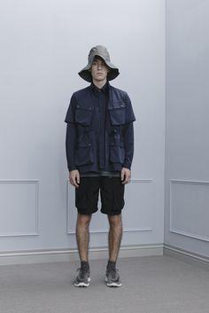 1A02_Timeline Worker Hat/1T01_Pentagon Tee/1S02_4 Pocket SS Shirt /1S01_Hidden Placket LS Shirt / 1P04_Width Splicing Worker Shorts