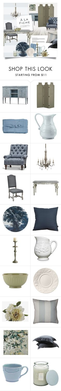 """""""Provence Home"""" by magdafunk on Polyvore featuring interior, interiors, interior design, home, home decor, interior decorating, Safavieh, Juliska, Post-It and Universal Lighting and Decor"""