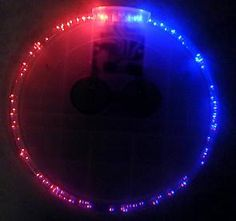 Patriotic Lighted Red and Blue Coasters.