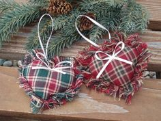 Items similar to Fabric Heart Ornament. Country Christmas Decoration on Etsy - - Items similar to Fabric Heart Ornament. Country Christmas Decoration on Etsy. Country Christmas Ornaments, Fabric Christmas Ornaments, Christmas Hearts, Christmas Sewing, Rustic Christmas, Primitive Christmas, Christmas Fun, Christmas Projects, Etsy Christmas