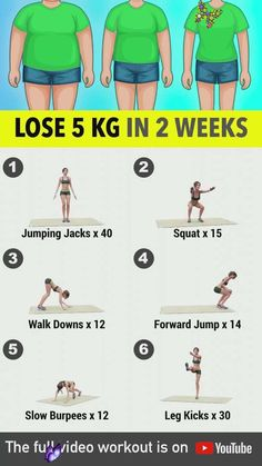 Lose 5 Kg In 2 Weeks - Home Exercises Here is another 2-week challenge you should definitely try! This is a full-body workout that will make you burn calories and lose weight in just 14 days of regular, daily exercise! These are all body-weight exercises so there's no need to use any equipment or visit the gym. This is quite a challenging workout that will require you to work your whole body from top to bottom and there are routines that will require a lot of effort but with determination, I…