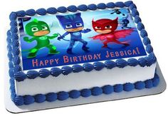 PJ MASKS 1 Edible Birthday Cake Topper OR Cupcake Topper, Decor - Want to surprise your special someone on his/her birthday? How about choosing a personalized cake topper to reflect your emotions! Well, trust to get you the best. Pj Masks Birthday Cake, Image Birthday Cake, Birthday Cake Toppers, Edible Cake Toppers, Cupcake Toppers, Cupcake Cakes, Torta Pj Mask, Pjmask Party, Party Ideas