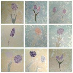 Photo collage of my ebru paintings