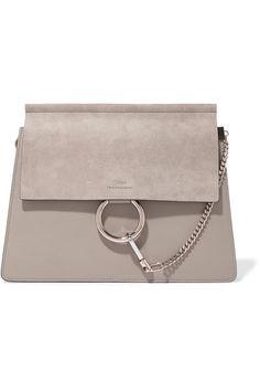 ac4bb4b959f Chloé - Faye medium leather and suede shoulder bag